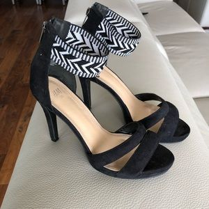 H&M Heel with Aztec Print Ankle Strap
